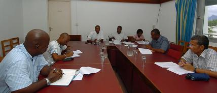 PS Raguin (first left facing camera) addressing members of the committee during its launch