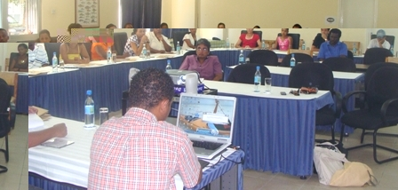 Some of the teachers attending the workshop