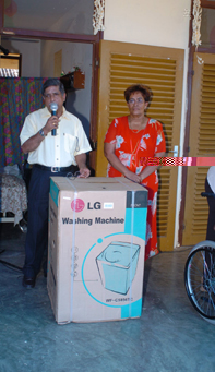 Mr Ramani has donated a washing machine to the school