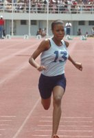 LAURENCE ... girl 100m and 200m records