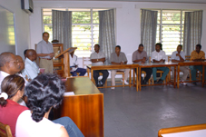 The opening session of the training course
