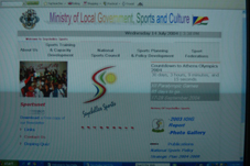 The front page of MLGSC's sports website