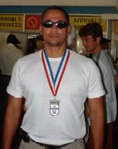 Canaya sports his silver medal