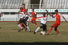 Action from the SMB/ Plaisance match