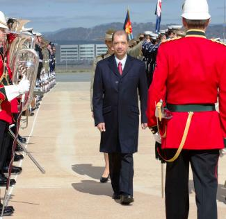 The President inspecting a Guard of Honour