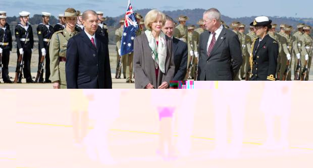 President Michel on his arrival in Canberra