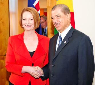President Michel meets Prime Minister Gillard