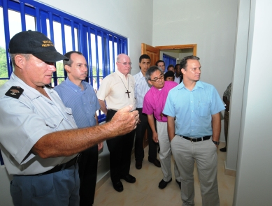 Superintendent Tirant guides guests on a tour of the new facility