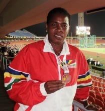 Javelin bronze medallist Leveau-Agricole
