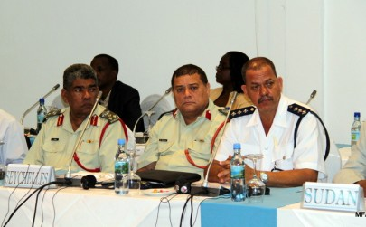 The Seychelles delegation at the meeting