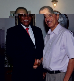 President Michel welcomes Mr Ngwenya at State House