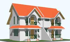 One of the models of houses to be constructed on Ile Perseverance