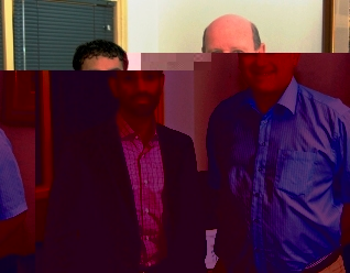Mr Rashed Saif Al Shabi (left) with Mr St Ange