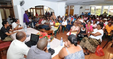 Corgat estate residents during the meeting on Saturday