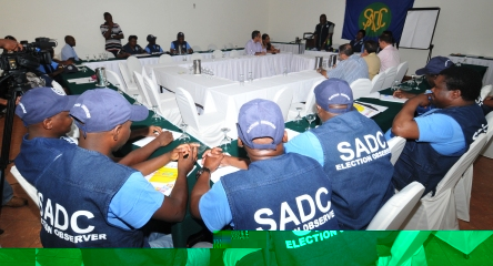 The SADC observer team launching their work on Saturday
