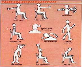 These simple stretching exercises are very helpful in providing relief from prolonged postures