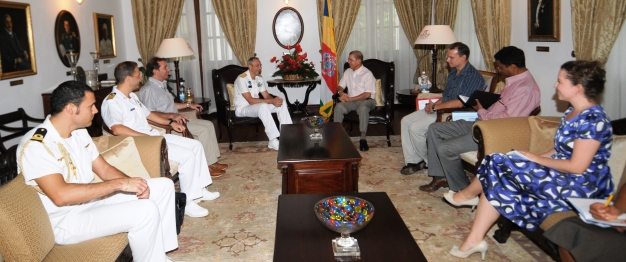 Mr Mattesi and his delegation during their call on President Michel yesterday at State House