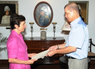 Ms Imperiale presents her credentials to President Michel
