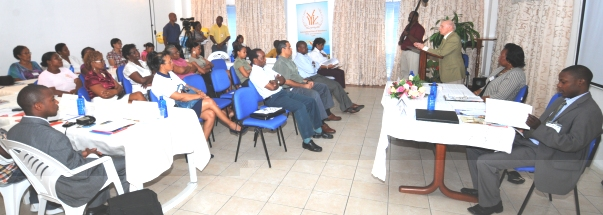 The opening session of the meeting yesterday