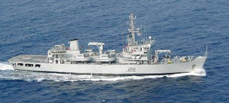 The state-of-the-art survey ship Indian naval ship Sarvekshak