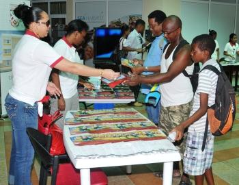 Visitors at the UniSey exhibiton last Saturday