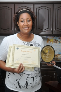 Sports Medical Assistant level one best performer Dorothy Athanase