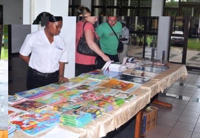 One of the stands during the Open Day at the National Library