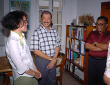President Michel during his tour of MFA (left) and MENR offices