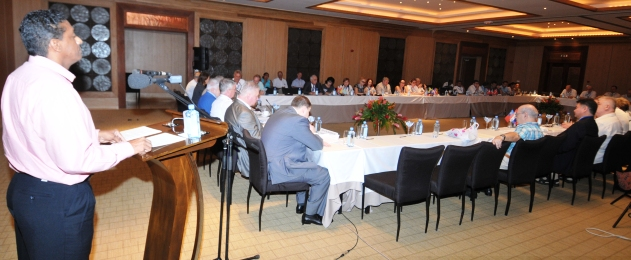 Mr Faure addressing delegates at the opening of the meeting yesterday