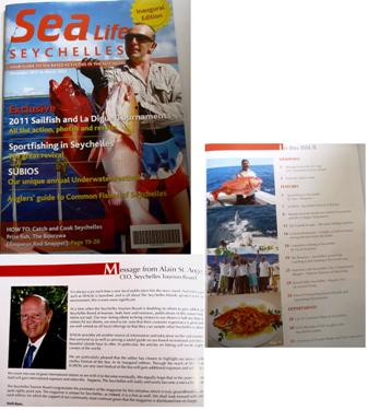 The front cover of the inaugural issue of Sea Life Seychelles