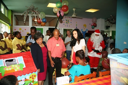 The project to make the children's ward at the Seychelles Hospital more child-friendly and comfortable for the children who are admitted there has been well received by all concerned