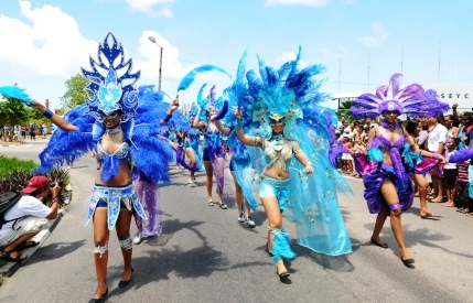 A scene from the first Carnaval International de Victoria in March last year. The second edition of this spectacle is being most eagerly awaited