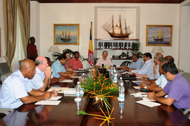President Michel chairing the first meeting of the National Economic Council on Thursday