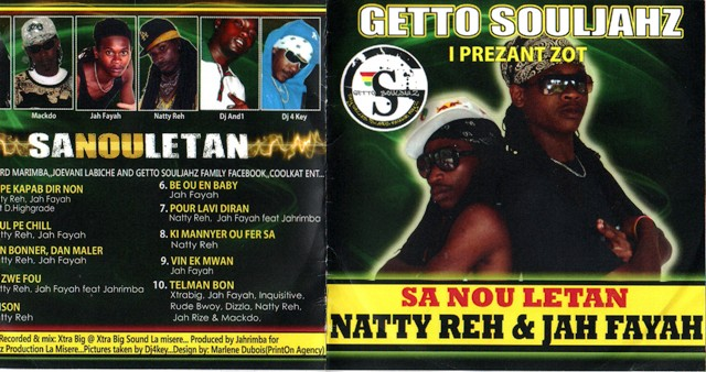 The cover of the Sa nou letan album released by Natty Reh and Jah Fayah
