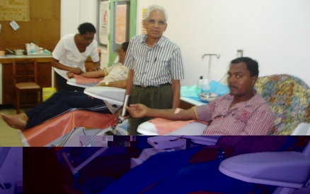 The blood donation camp on Monday