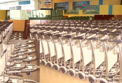 The batch of new trolleys are expected to improve customer service at the airport