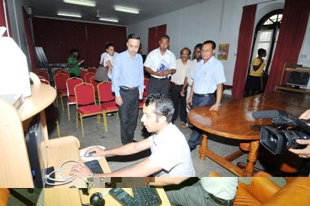 Mr Darlong touring the telemedicine centre