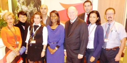 The Seychelles delegation at the FITUR trade fair