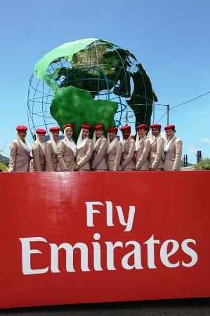 Emirates' float at last year's Carnaval International de Victoria. The airline's float for the 2012 carnival will be inspired by the drawing of a young Seychellois