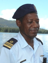 Lt. Col Georges Adeline, acting Commanding Officer of the Seychelles Coast Guard