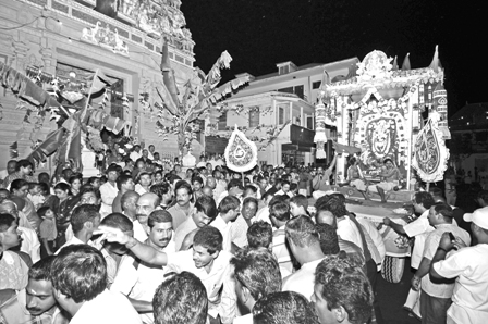 Hindu Chariot Procession which is an annual event