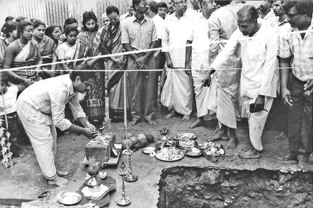 Laying of the Temple Foundation Stone 1990