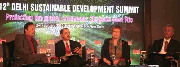 President Michel speaking at the Leadership Panel of the Delhi Sustainable Development Summit 2012