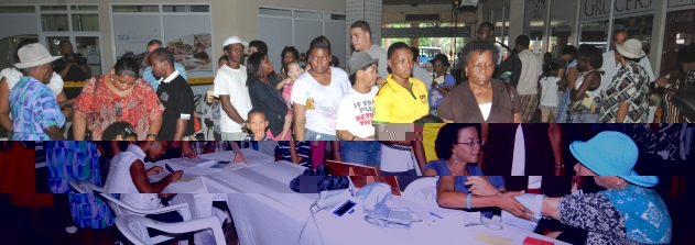 Shoppers availing of the Saturday screening exercise to check their blood sugar level