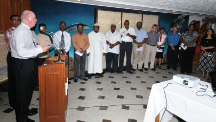 Bishop Wiehe addressing the gathering during the launch of the council