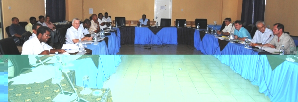 Delegates at the meeting yesterday