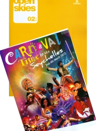 The carnaval's promotional picture that features in Emirates' Open Skies
