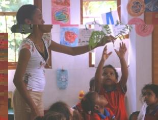 Children taking part in the activity