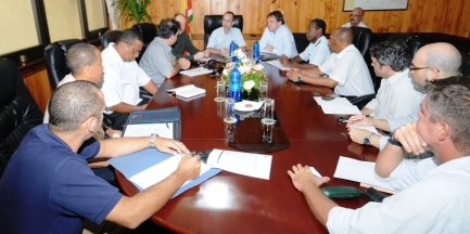Minister Morgan during his meeting with the emergency committee yesterday