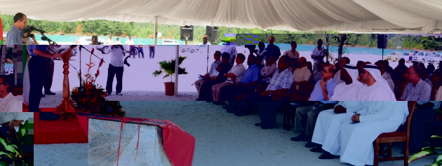 Minister Morgan addressing guests at the ceremony